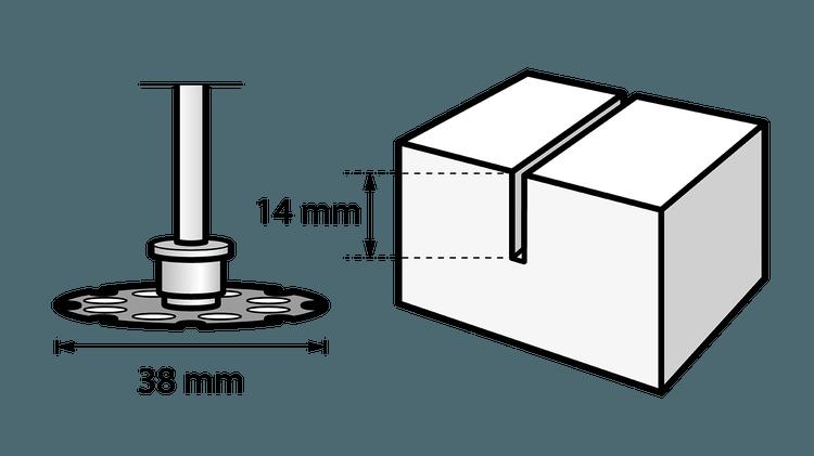 DREMEL® EZ SpeedClic: Holztrennscheibe.
