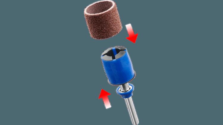 DREMEL® EZ SpeedClic: Schleifdorn & Schleifband
