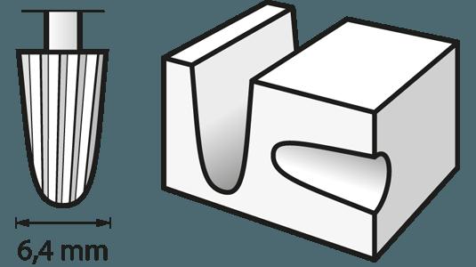 Hochgeschwindigkeits-Fräsmesser 6,4 mm
