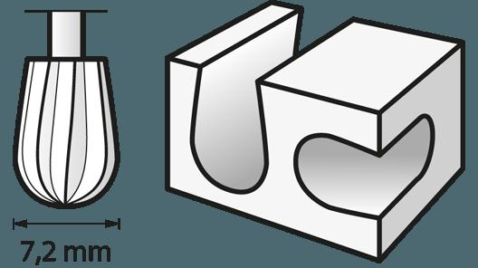 Hochgeschwindigkeits-Fräsmesser 7,2 mm