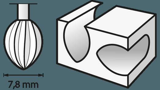 Hochgeschwindigkeits-Fräsmesser 7,8 mm