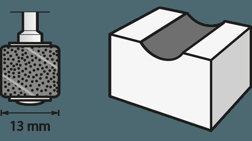 Schleifband 13 mm, Körnung 60