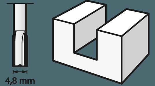 Router Bit (HSS) 4,8 mm