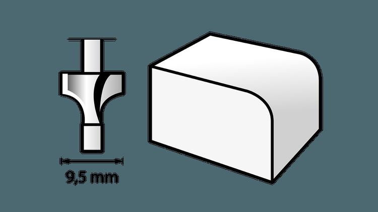 Router Bit (HSS) 9,5 mm
