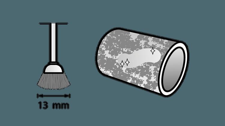 Brosse en acier 13 mm