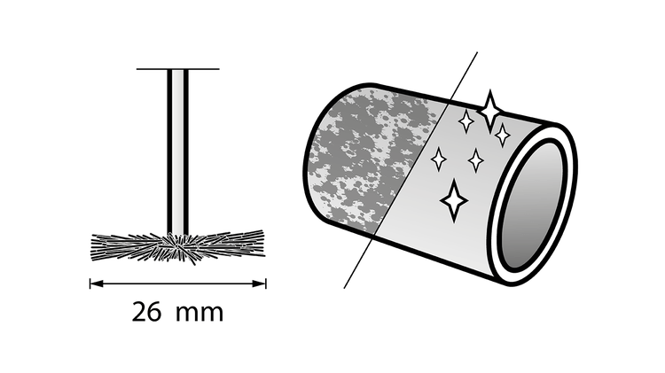 Brosse en soie 19 mm