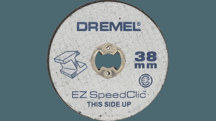 DREMEL® EZ SpeedClic : pack de 5 disques à tronçonner pour la découpe des métaux.