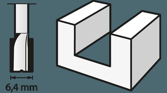 Fraise à défoncer (HSS) 6,4 mm