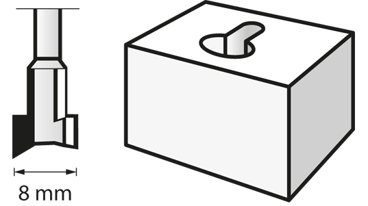 Fraise à défoncer (HSS) 8,0 mm