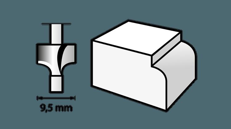 Fraise à défoncer (HSS) 9,5 mm