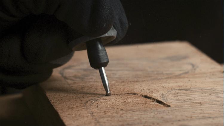 Fraise en carbure de tungstène à bout rond 3,2 mm