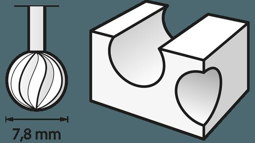 Fraise haute vitesse 7,8 mm