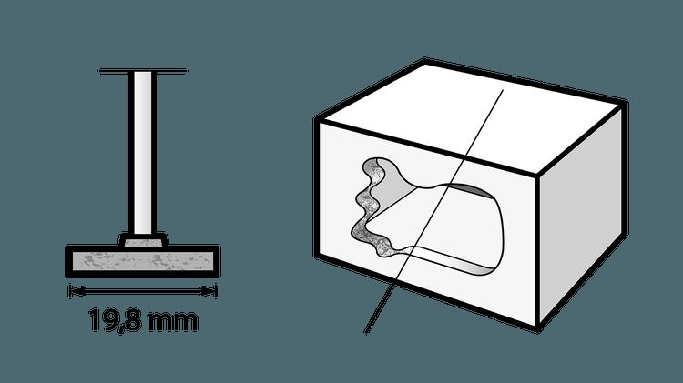 Meule à rectifier en carbure de silicium 19,8 mm