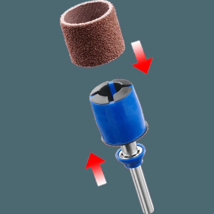 DREMEL® EZ SpeedClic: schuur opspandoorn en schuurbanden